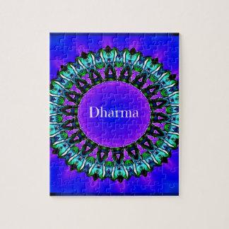 Purple Buddha Truths Darma Mandala Pattern Puzzles