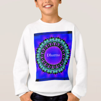 Purple Buddha Truths Darma Mandala Pattern Sweatshirt