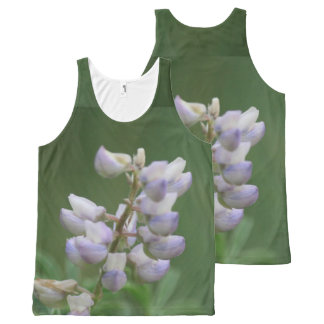 Purple Buds All-Over-Print Tank Top