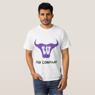 Purple Bull Logo Letter W Initial Tshirt