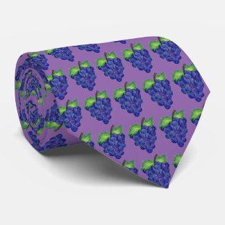 Purple Bunch of Grapes Fruit Grape Print Food Tie