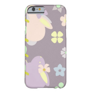 purple bunnies with ribbon iPhone 6/6s case