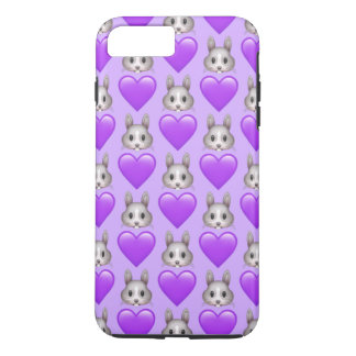 Purple Bunny Emoji iPhone 7 Plus Phone Case