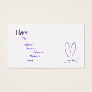Purple Bunny Hop Business Card