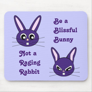 Purple Bunny Rabbit Mousepad