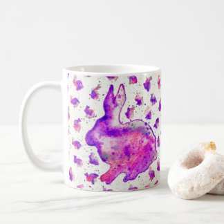 Purple Bunny Watercolor Mug