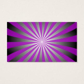 Purple burst business card