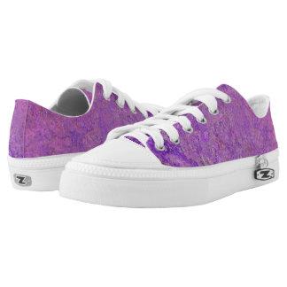 Purple Burst Zipz Low Top Shoes