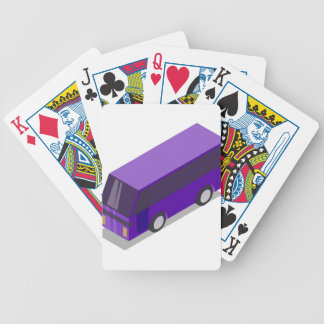 Purple Bus Bicycle Playing Cards