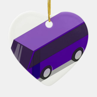 Purple Bus Ceramic Ornament