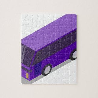Purple Bus Jigsaw Puzzle
