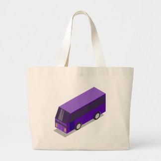 Purple Bus Large Tote Bag