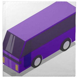 Purple Bus Napkin