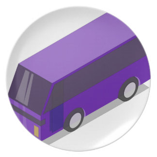 Purple Bus Plate