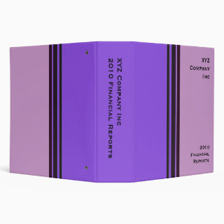 purple business 3 ring binder