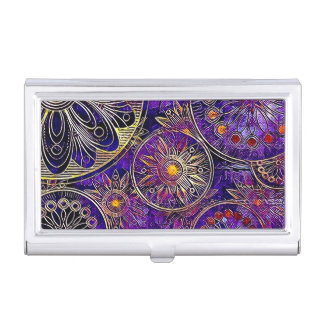 Purple Business Card Holder