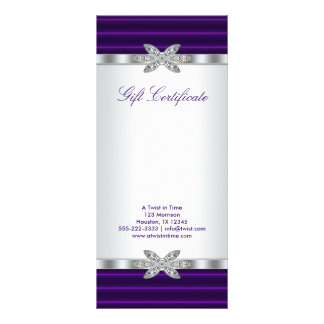 Purple Business Gift Certificate Gift Card Custom Rack Card