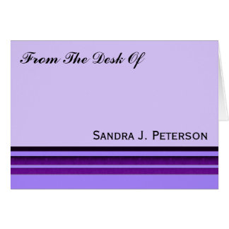 Purple Business Stripes Card