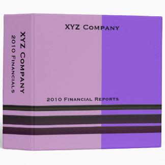 purple business vinyl binders