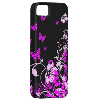 Purple Butterflies and Flowers iPhone 5 Covers