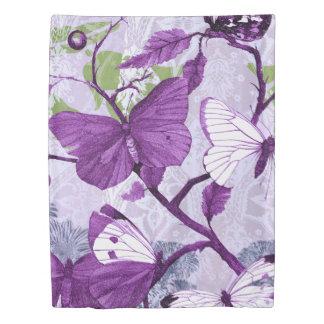 Purple Butterflies Duvet Cover