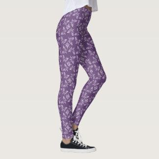 Purple Butterflies Kawaii Pastel Goth Leggings