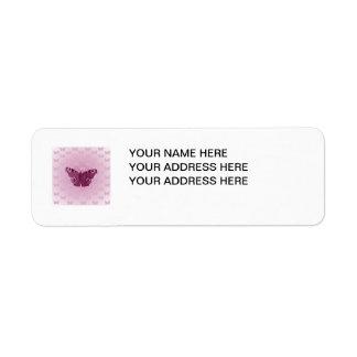 Purple Butterflies Custom Return Address Labels
