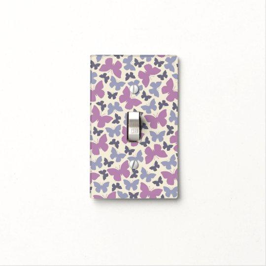 Purple Butterflies Light Switch Cover