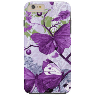Purple Butterflies on a Branch Tough iPhone 6 Plus Case