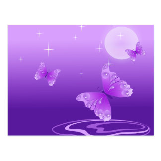 Purple Butterflies Postcard