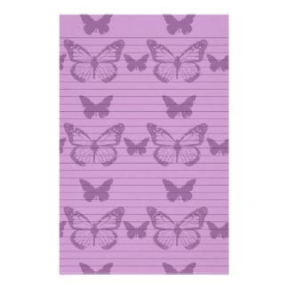 Purple Butterflies Stationery