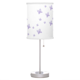 Purple Butterflies Table Lamp