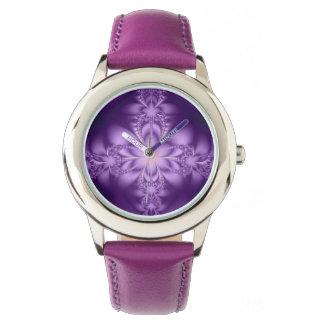Purple butterflower watch