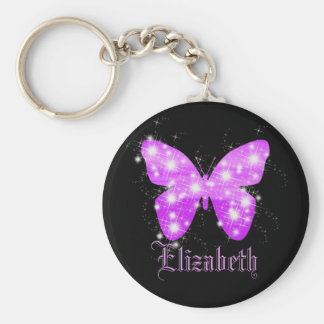 Name keychains name keychain designs zazzle canada purple butterfly and stars personalized with name keychain urtaz Gallery