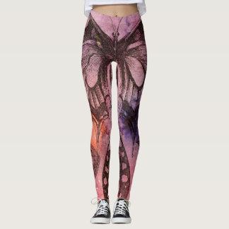 Purple Butterfly Art Leggings