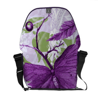 Purple Butterfly at the Window Commuter Bag