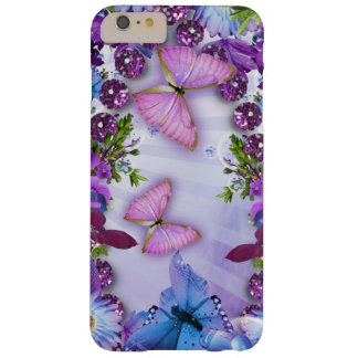 Purple Butterfly Barely There iPhone 6 Plus Case