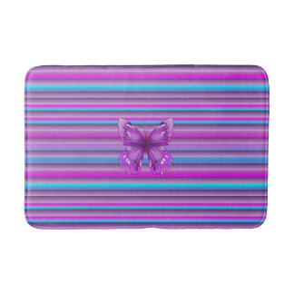 Purple Butterfly Bath Mat