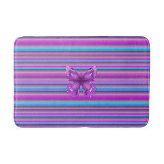 Purple Butterfly Bathroom Mat
