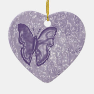 Purple Butterfly Ceramic Ornament