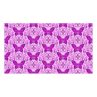 Purple Butterfly Circles Pattern Business Card Template