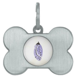 Purple Butterfly Cocoon Pet Name Tags