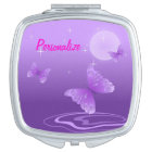 """""""Purple Butterfly"""" Compact Mirror"""