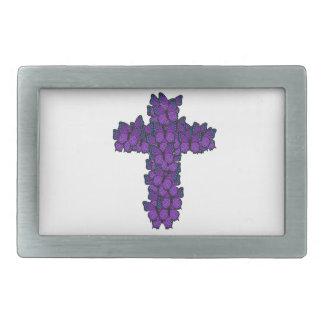Purple Butterfly Cross Belt Buckle