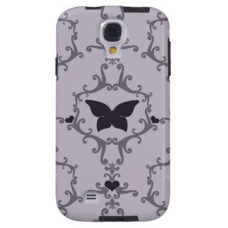 Purple Butterfly Damask