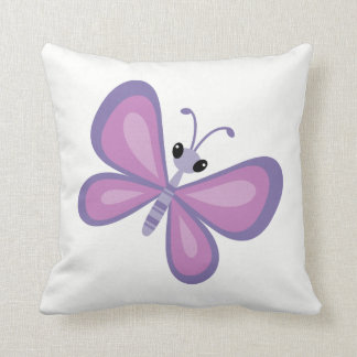 Purple Butterfly Decorative Throw Pillow