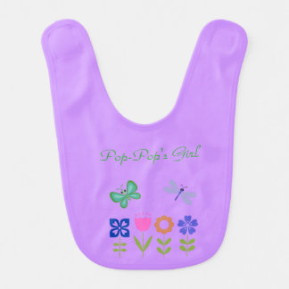 Purple Butterfly & Dragonfly Bib