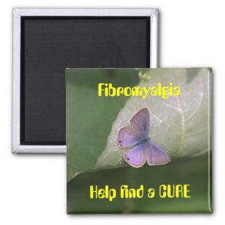 purple butterfly, Fibromyalgia Help find a CURE Magnet