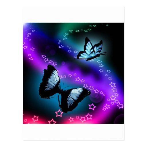 Purple Butterfly Genesis Postcard