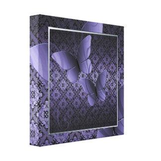 Purple Butterfly Kisses Decor Canvas Print